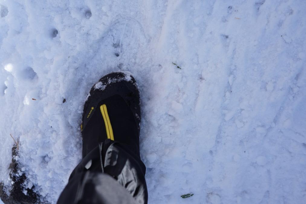 初雪山に行ってきました!チェーンアイゼンってどれくらい効くの?