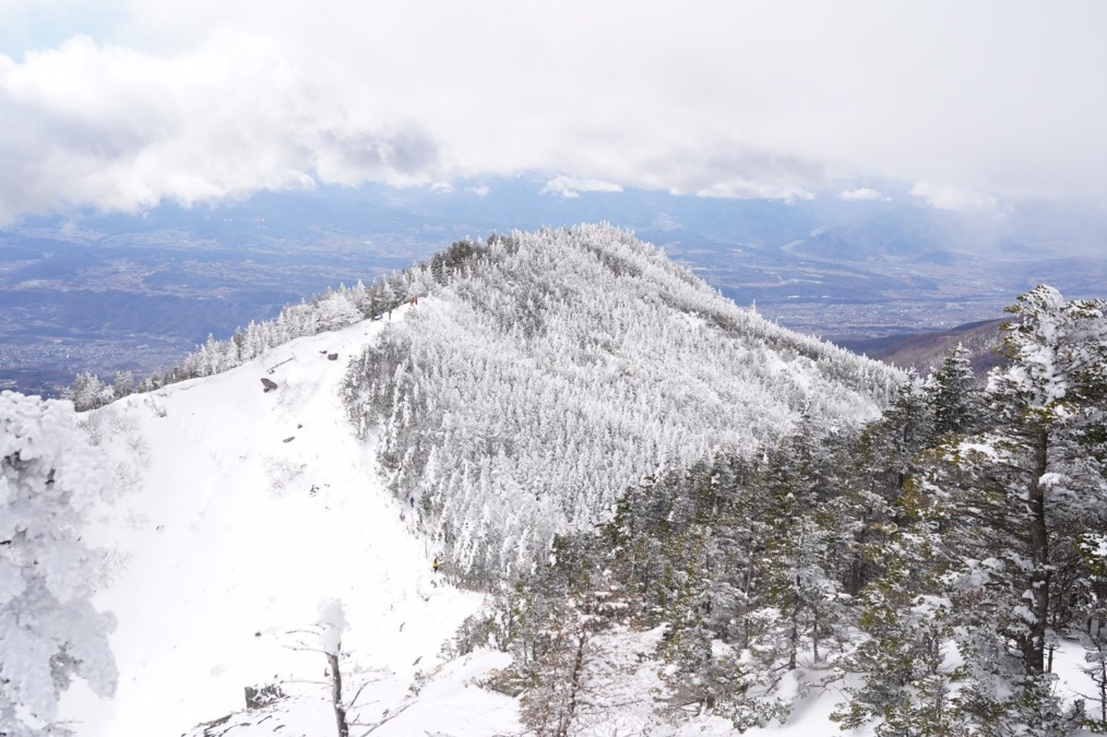 雪上キャンプ!の前に黒斑山に雪山登山をしてきたよ!