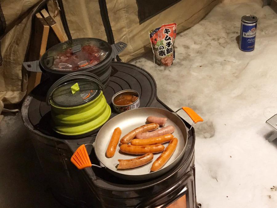 雪上キャンプ!北軽井沢のSweetGrassキャンプ場に行ってきたよ!see to summitのコンパクトクッカーセットが便利だった初日編!