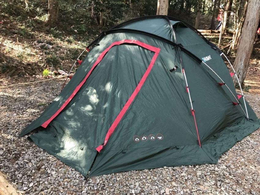 【評価】ハスキーテント・ファイター【レビュー/最高のテントです】どことなくヒルバーグに似ています。性能も使い勝手も良いです。