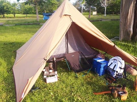 パンダTCで風が気持ちいいソロキャンプ~スタンレーで時短テク~