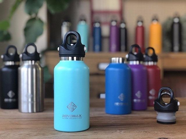 水筒に革命を!REVOMAX2 ワンタッチ真空断熱ボトル