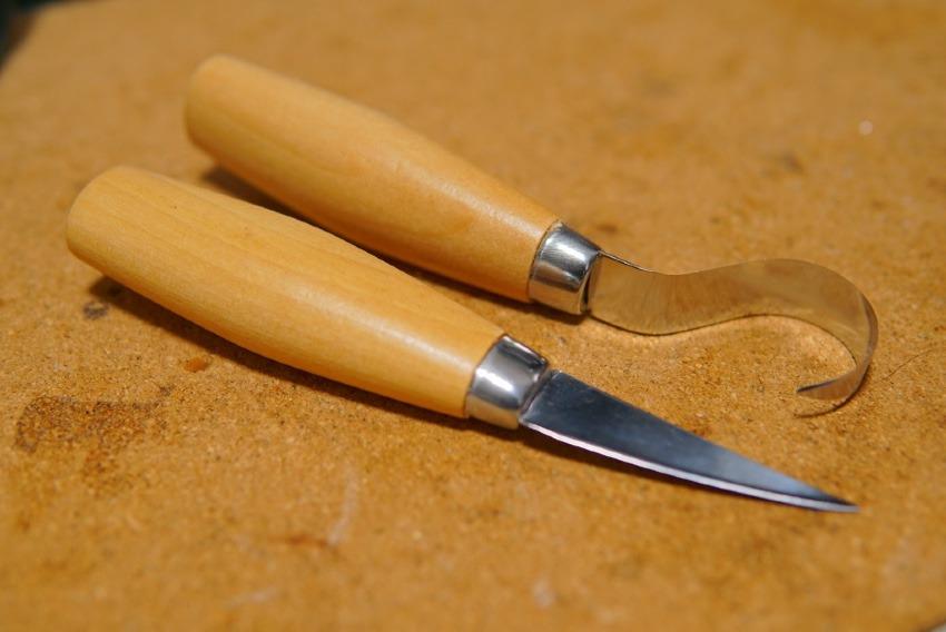 Miuphro カービングナイフ&フックナイフ紹介!彫刻刀では味わえない男の木工!一から作るキャンプ道具!